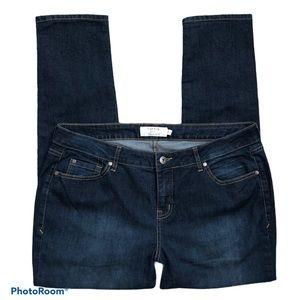 Torrid Skinny High Rise Dark Wash Jeans Size 18R